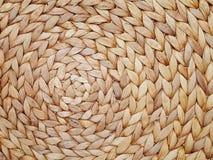 Naturlig vävd sugrörbakgrund Arkivfoto