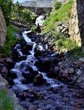 Naturlig vattenfall Andorra Arkivfoton