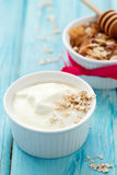 Naturlig yoghurt Royaltyfri Foto