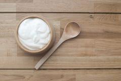 naturlig yoghurt royaltyfri bild