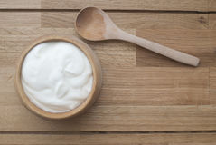 naturlig yoghurt royaltyfri fotografi