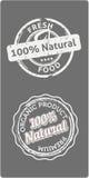 Naturliga bio kvalitetsetiketter Arkivbilder
