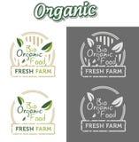 Naturliga bio organiska etiketter Arkivbilder
