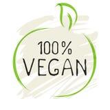 Naturliga bio sund organisk etikett för strikt vegetarianprodukt 100 och högkvalitativa produktemblem Eco, bio 100 och naturlig l vektor illustrationer