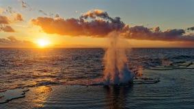 Naturliga blåshål på ön av Tongatapu, i Konungariket Tonga fotografering för bildbyråer