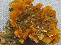 Naturliga former Mineraler och halv-dyrbara stentexturer och bakgrunder Royaltyfria Bilder