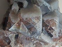 Naturliga former Mineraler och halv-dyrbara stentexturer och bakgrunder Royaltyfri Fotografi
