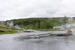Naturliga Hot Springs i Fludir, Island Royaltyfri Foto