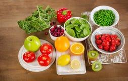 Naturliga källor av vitamin C Arkivbild