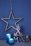 Naturliga material för julstilleben Arkivfoton