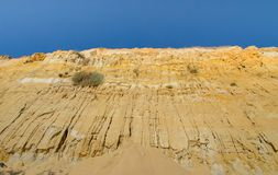 Naturliga Monument Acantilado del Asperillo, Mazagon, Almonte, Huelva, Spanien, Europa Royaltyfri Foto