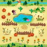 Naturliga objekt för lekar och app stock illustrationer