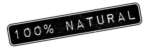 100 naturliga procent rubber stämpel Royaltyfri Fotografi