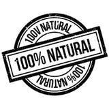 100 naturliga procent rubber stämpel Arkivfoton