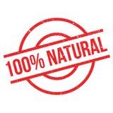 100 naturliga procent rubber stämpel Royaltyfri Bild