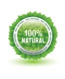 naturliga produkter för etikett Royaltyfri Fotografi