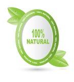 naturliga produkter för etikett Arkivfoto