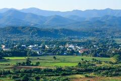 Naturliga sikter i aftonen på Thailand Royaltyfri Fotografi