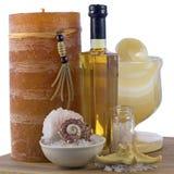 Naturliga skönhetsmedel för skönhetkropp Fotografering för Bildbyråer