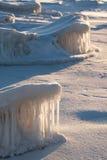 naturliga skulpturer för is Royaltyfria Foton