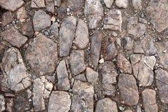 Naturliga stenar i varma färger arkivbild