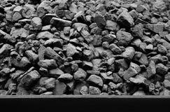 Naturliga svartkol för bakgrund Industriella kol Arkivfoton