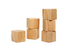 Naturliga träfärglösa tegelstenar Arkivfoto
