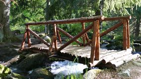 Naturliga Vitosha parkerar nära Sofia, Bulgarien Det guld- broområdet Vattenströmlandskap arkivfilmer