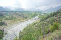 Naturligt berg fotografering för bildbyråer