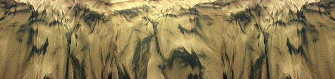 Naturligt bildad sandstrand Arkivbild