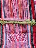 Naturligt färgat ullgarn i peruanska Anderna på Cuzco Royaltyfria Bilder
