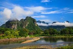 Naturligt i Laos royaltyfri fotografi