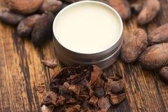 Naturligt kakaosmör arkivfoton