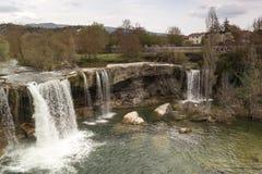 Naturligt landskap, fält av Frias i Burgos, Castilla y Leà ³ n spain royaltyfri bild