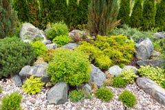 Naturligt landskap i hemträdgård Royaltyfri Foto