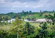 Naturligt landskap i Liberia, Västafrika arkivbild