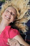 naturligt leende royaltyfri fotografi