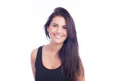 Naturligt leende - kvinna Fotografering för Bildbyråer
