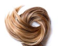 Naturligt mänskligt hår royaltyfri bild