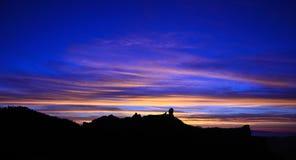 Naturligt parkera Roque Nublo på gryning, Gran canaria, kanariefågelöar Royaltyfria Bilder
