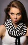 naturligt perfekt kvinnabarn för härlig makeup Royaltyfria Foton
