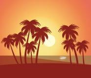 Naturligt sceniskt för strandsommarlanscape Royaltyfri Bild