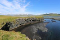 Naturligt seende landskap för Island landskap Arkivbild