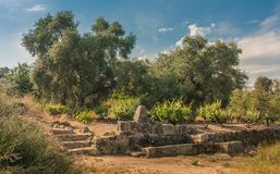Naturligt stena springbrunnen royaltyfri fotografi