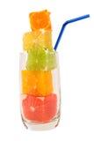 naturligt sugrör för fruktsaft fotografering för bildbyråer