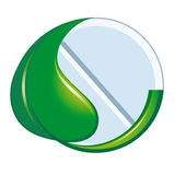naturligt symbol för medicin stock illustrationer