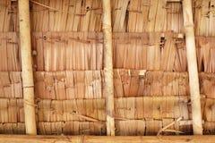 Naturligt tak, detalj av vävbambu Fotografering för Bildbyråer