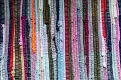 naturligt tyg Handgjord patchwork royaltyfri bild