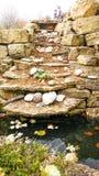 Naturligt vagga med stenar och dammet arkivfoton