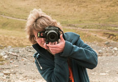 Naturmädchen photogrrapher Lizenzfreies Stockfoto